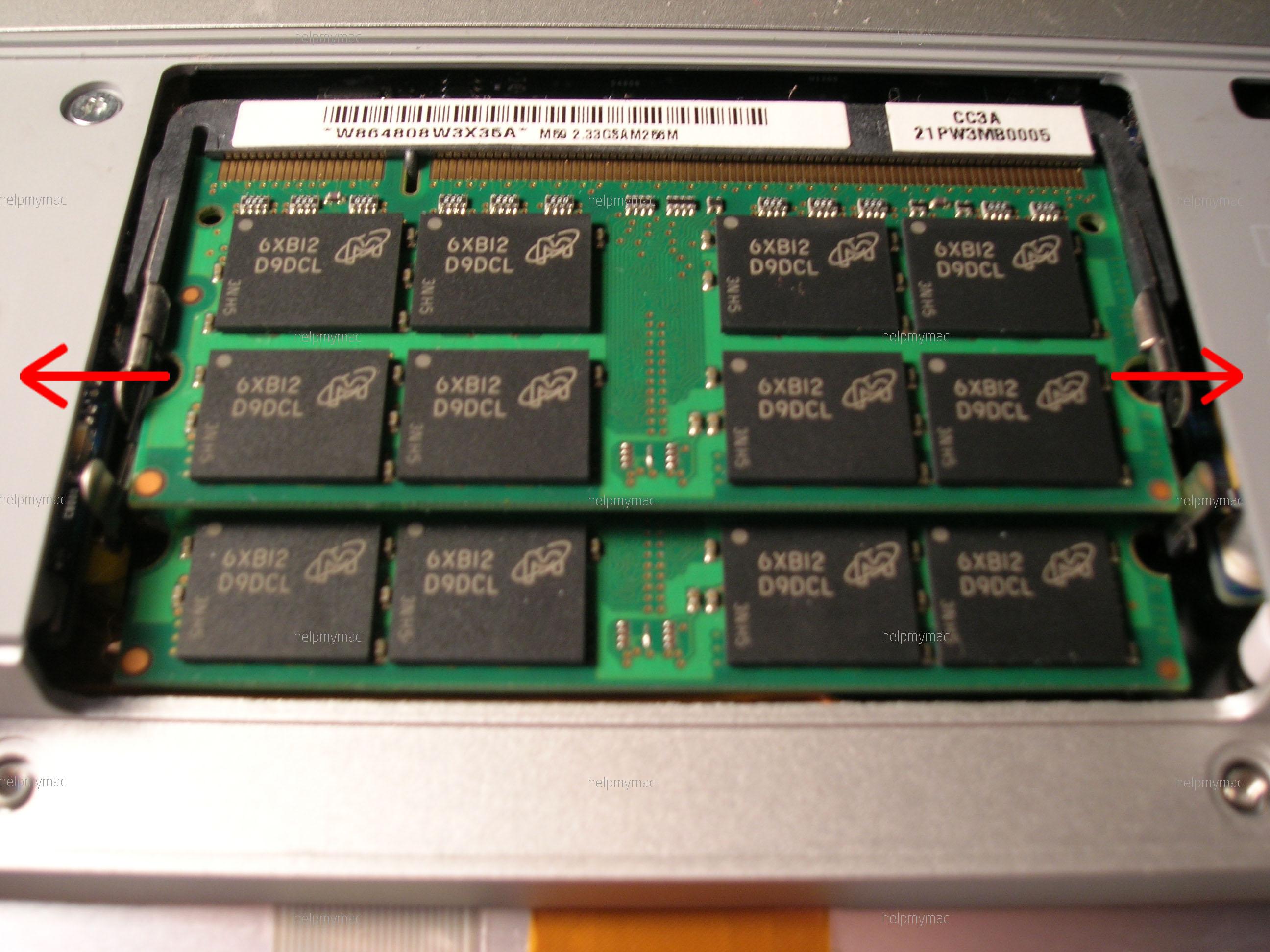Оперативная память MacBook
