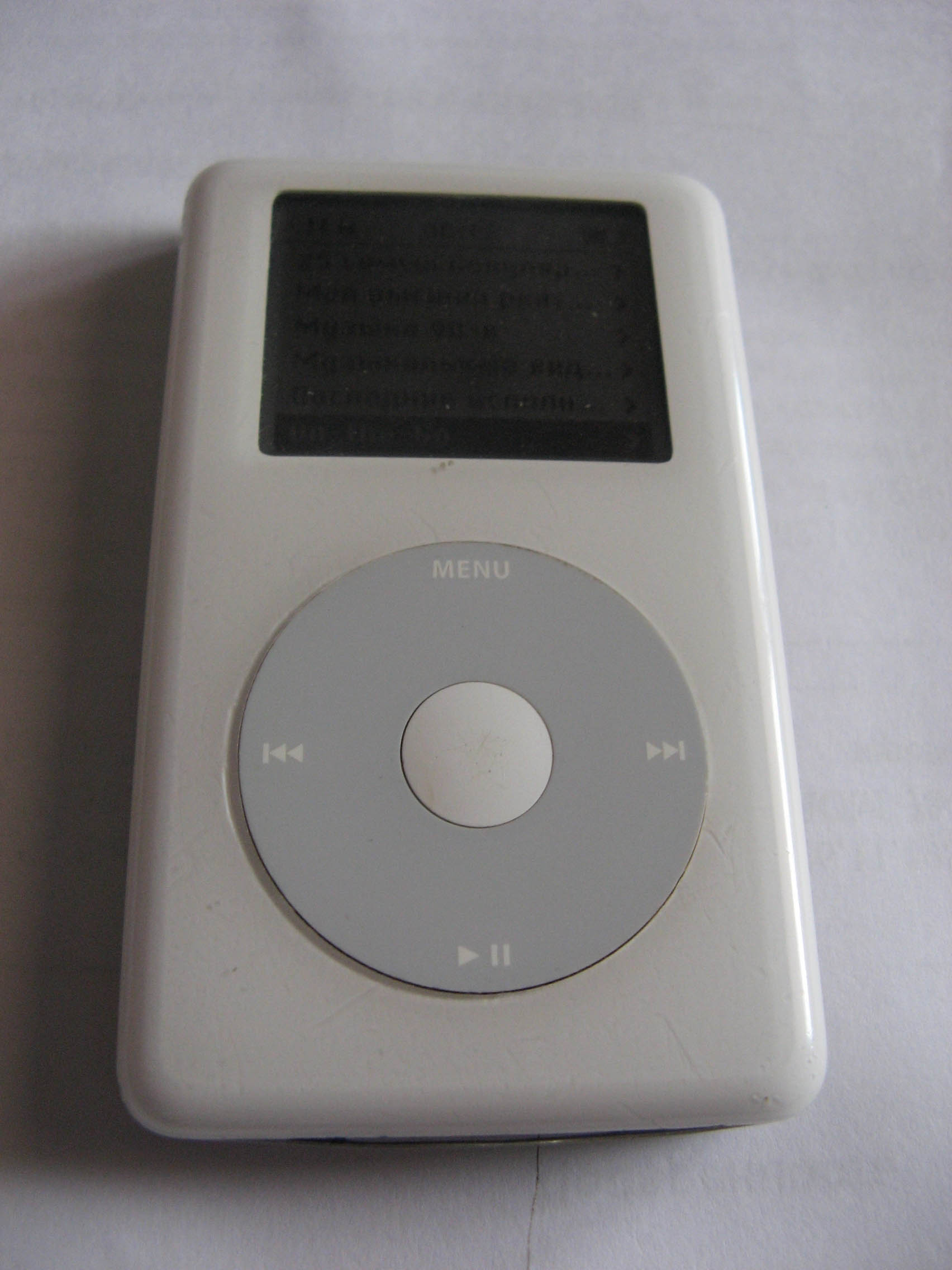 iPod with click wheel