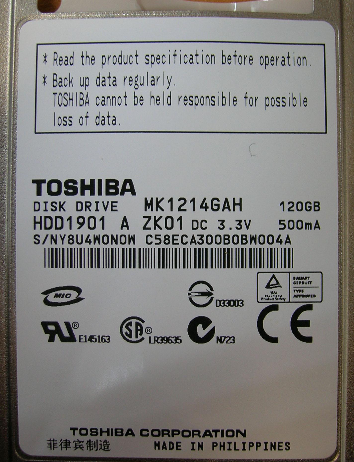 Жесткий диск Toshiba MacBook Air