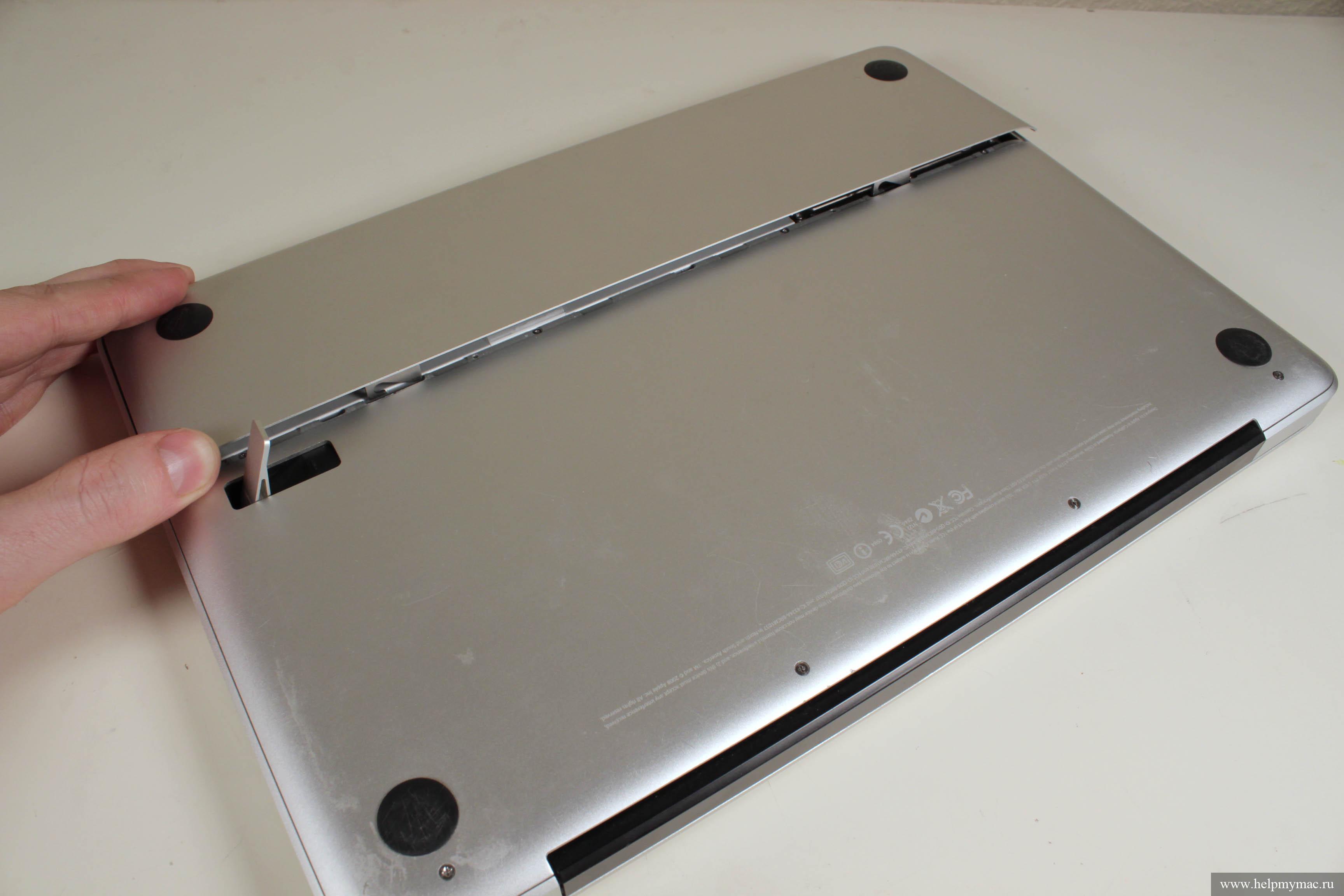 Приступаем к чистке от пыли MacBook Unibody A1278